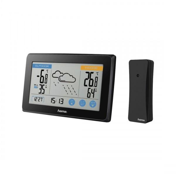 Метеостанция HAMA Touch, Температура, Влажност, Черна