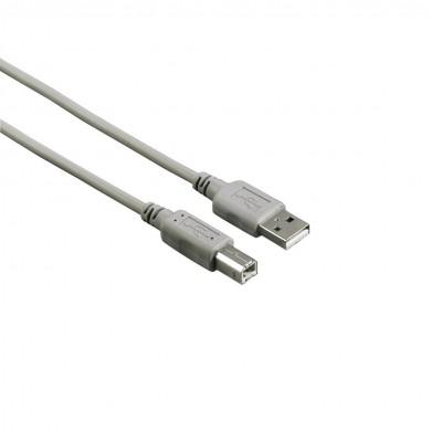 Кабел HAMA 29100 USB-A мъжко - USB-B мъжко, 3 м, Стандарт