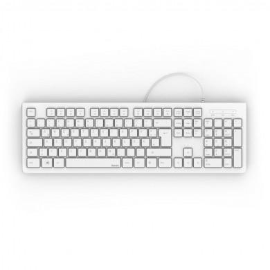 Клавиатура HAMA KC-200, с кабел, USB, бяла