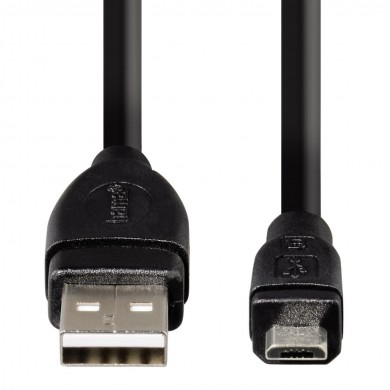 Кабел HAMA USB 2.0 - micro USB,  0.75 м, 1 звезда