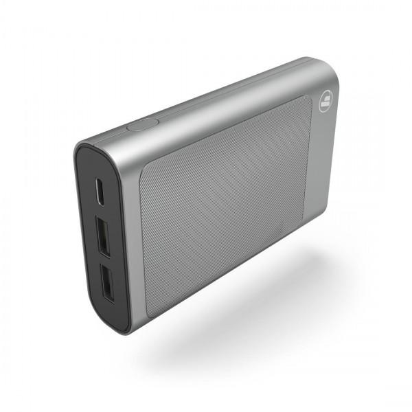 Външна батерия HAMA HD-5, 10000 mAh, USB-C, to go, Сив