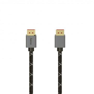 Кабел HAMA DisplayPort v.1.4 - DisplayPort v.1.4 мъжко, 2 м, 8K Ultra HD, Алуминий, Позл.конектори