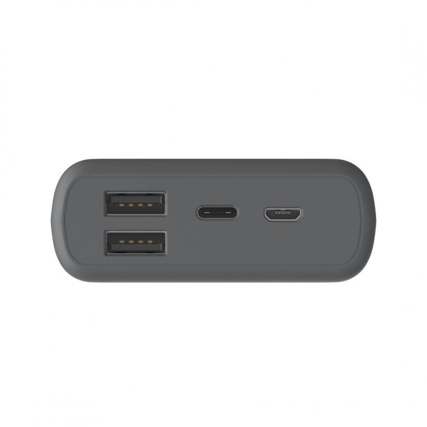 Външна батерия HAMA Supreme 20HD, 20000 mAh, LiPolym, USB-A/USB-C, Сив