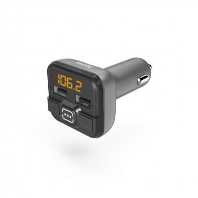 FM Трансмитер HAMA 14164, Bluetooth функция, Сив/Черен