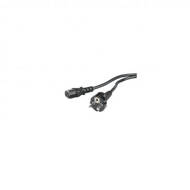 Захранващ кабел за компютър HAMA 29934, 3-pin socket, 1.5 m, Черен