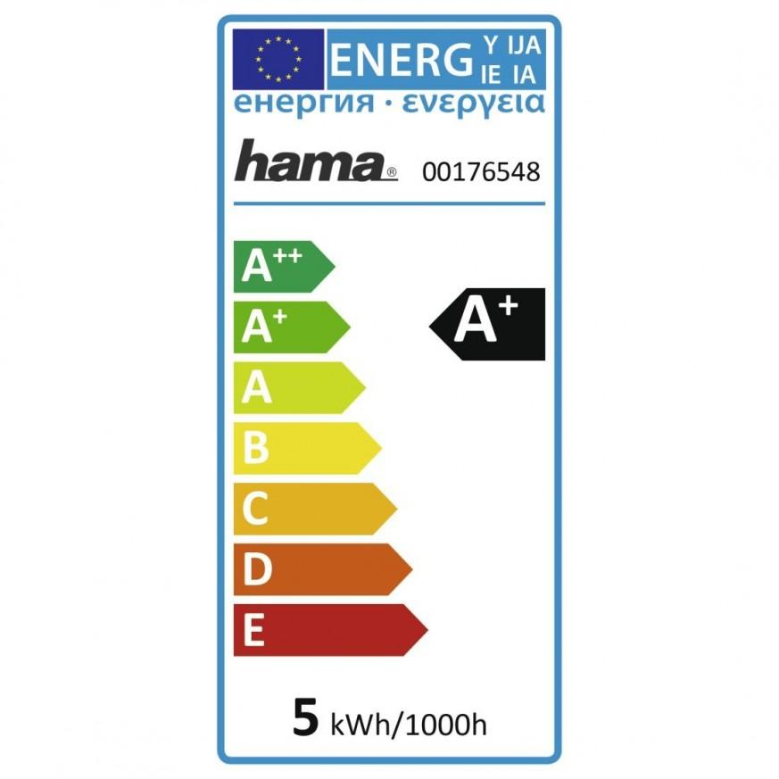 Димираща RGB крушка HAMA WiFi-LED, 4.5W, GU10, 300 lm